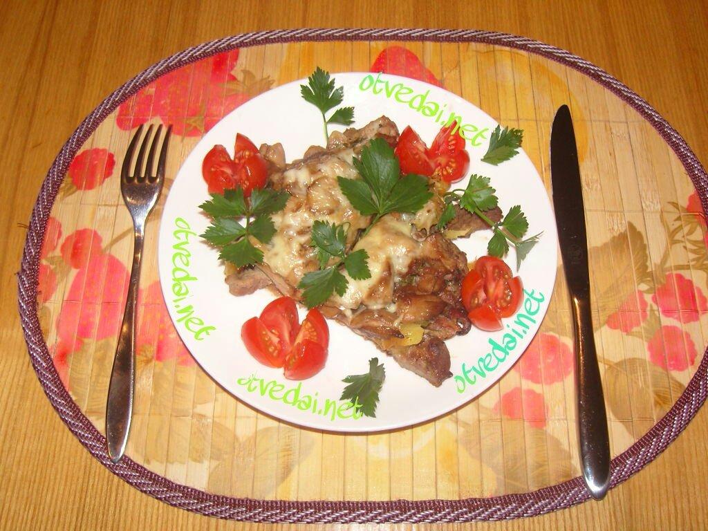 Филе индейки с белыми грибами и ананасом .(Фоторецепт от админа) Кулинарный сайт