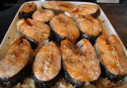 Рецепт красную рыбу в духовке