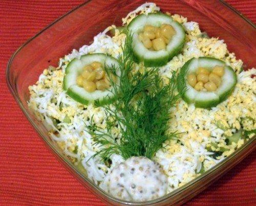 Салат с крабовым мясом знакомство