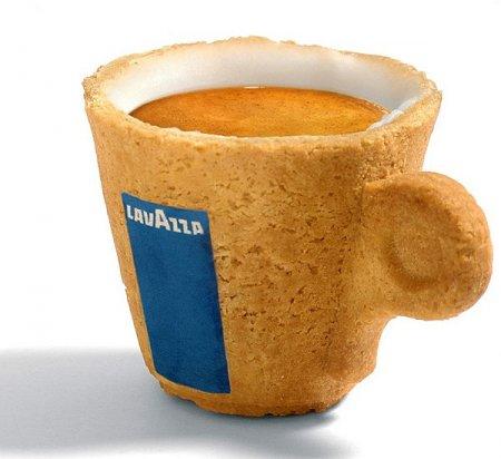 Съедобные чашки для кофе