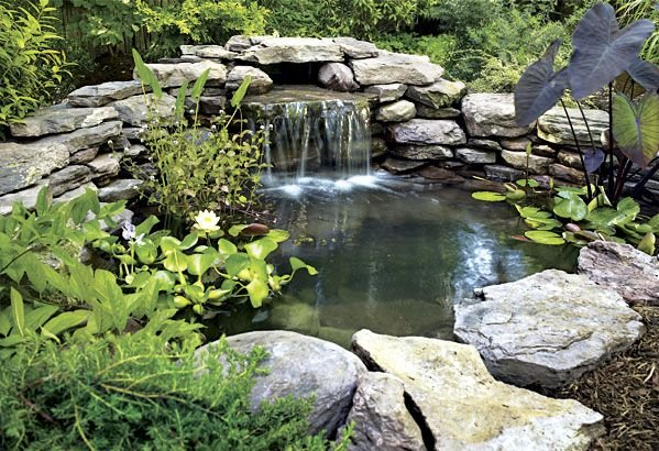 for Ornamental pond waterfall