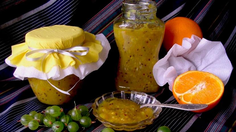 Рецепт варенья из крыжовника с апельсином