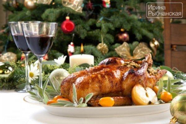 Самое Новогоднее блюдо — утка с яблоками в духовке.(Приготовление в рукаве)