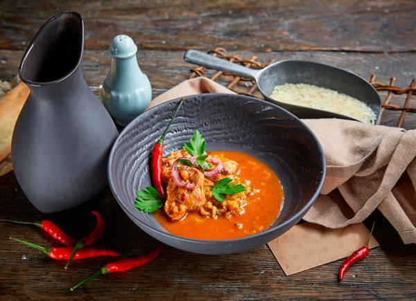 Рецепт согревающего супа харчо в крещенские морозы.