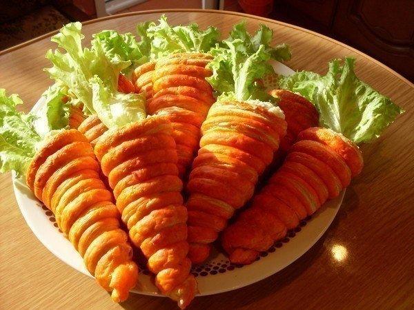 """Необычный салат:""""Морковка"""""""