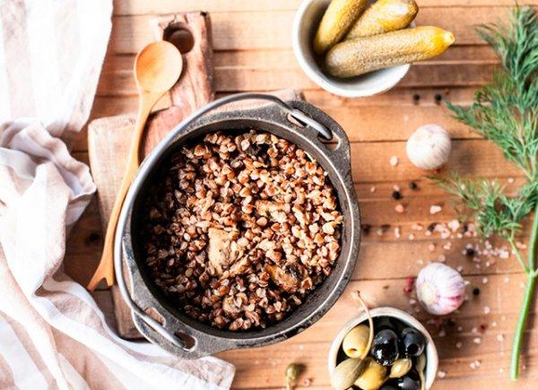 Как приготовить гречневую кашу с грибами для завтрака