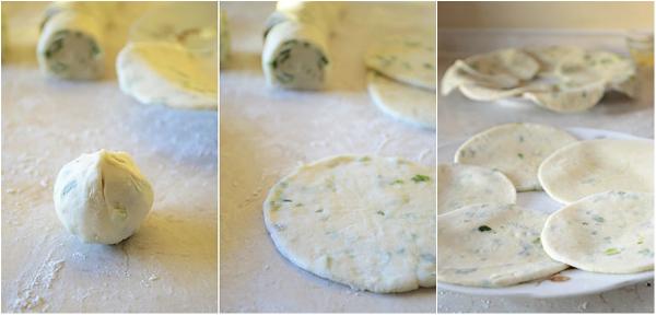 Румяные, ароматные, хрустящие лепешки с зеленым луком