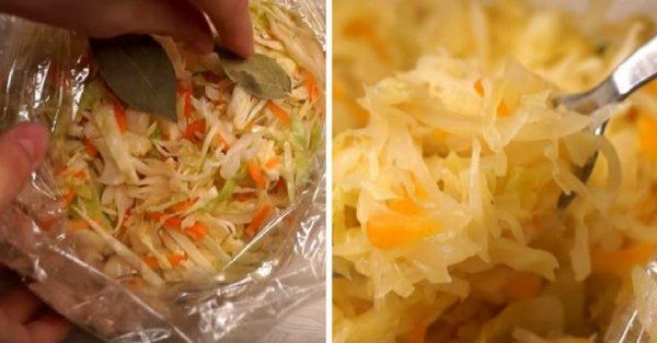 Как приготовить тушеную капусту в рукаве