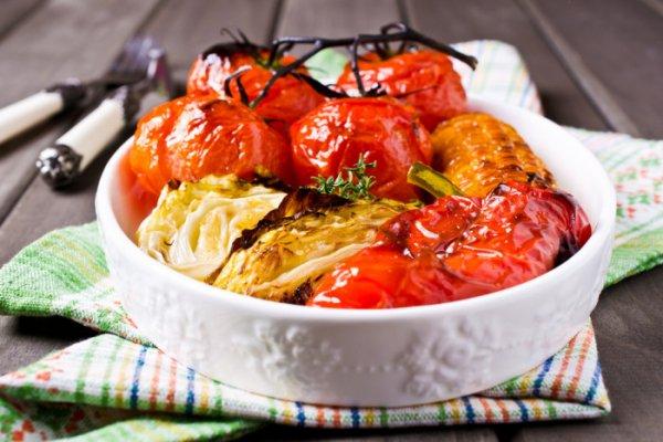 Ароматные овощи, запеченные в медовом маринаде