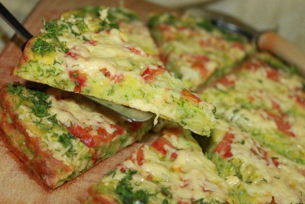 Как приготовить диетическую кабачковую пиццу