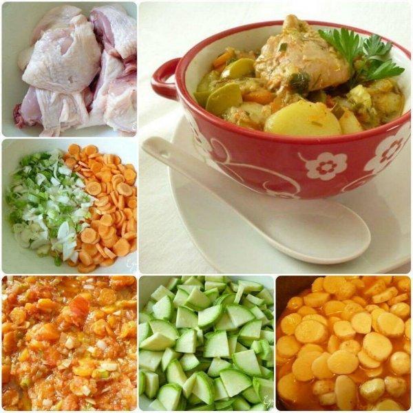Простое и очень вкусное блюдо-летнее рагу с кабачками и курицей