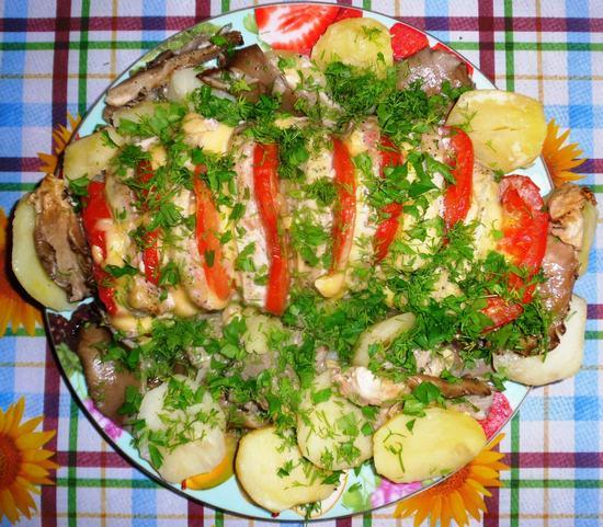 Ароматное и очень сытное блюдо свинина «Гармошка»