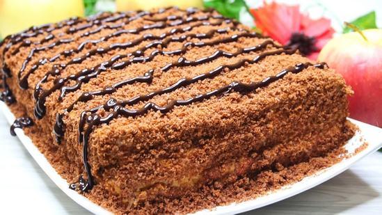 Как приготовить вкусный шоколадно-медовый тортик за 25 минут и из доступных продуктов