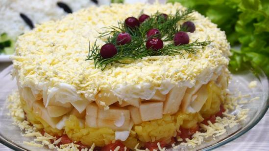 Очень необычный и вкусный салат «Принцесса»
