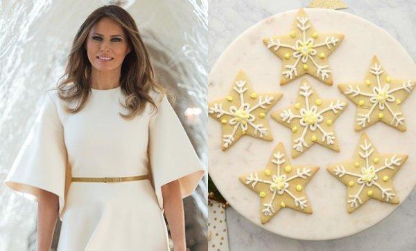 Рецепт рождественского печенья  из Белого дома от Мелании Трамп