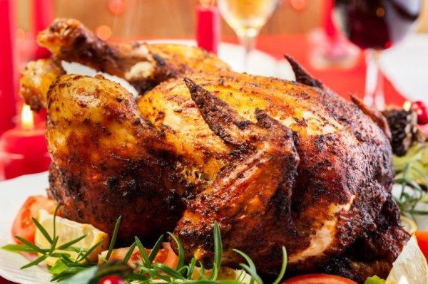 Как приготовить курицу в духовке, с пряным кускусом на гарнир.