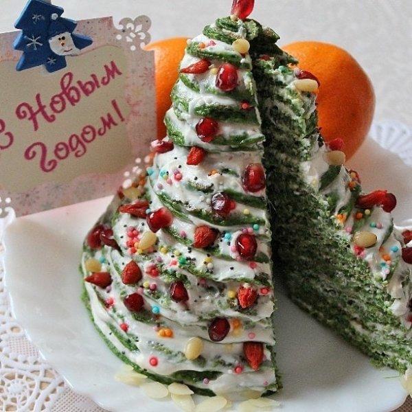 Ёлочка - десерт к новогоднему столу 2019