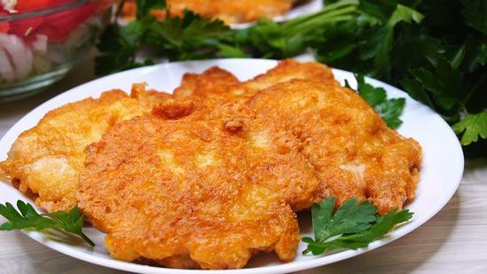 Мягкое и очень сочное мясо куриное филе в сырном кляре