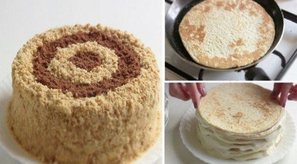 Очень простой и быстрый способ, как приготовить вкуснейший сметанник на сковороде