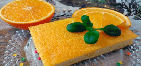 Нежная творожная запеканка с апельсиновой заливкой