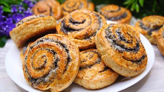 Быстрое печенье на кефире «Улитка».