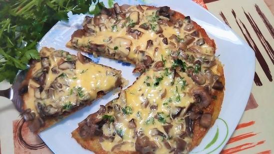 Картофельная пицца на сковороде - это вкусно, сытно и очень легко