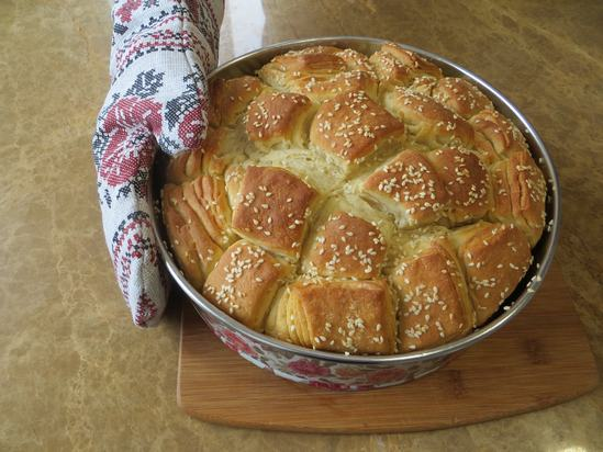 Как приготовить очень ароматный сливочный, обезьяний хлеб.(Фоторецепт)