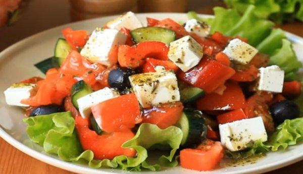 Рецепт Греческого салата с необычной заправкой