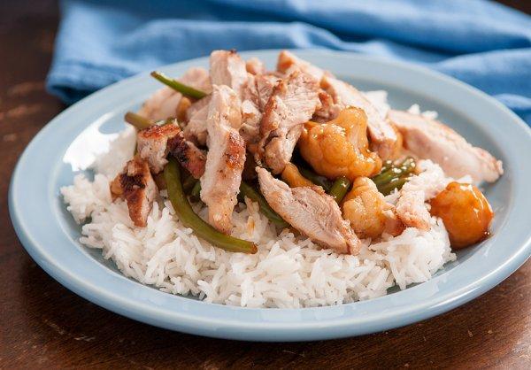 Простое блюдо для ужина: Курица с лимоном, травами и рисом