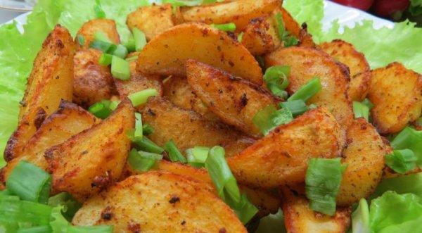 Оригинального гарнир. Запеченный картофель по-турецки.