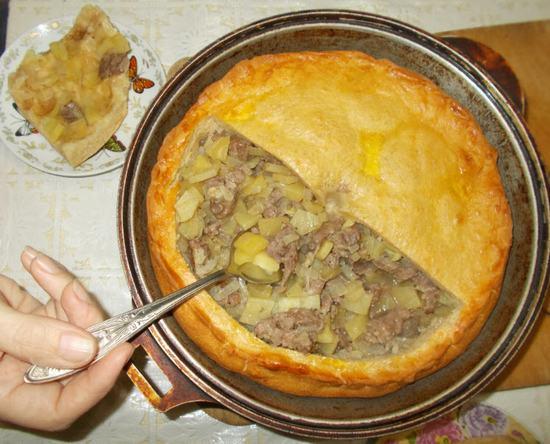 """Как приготовить курник с говядиной (""""Зур белиш"""")."""