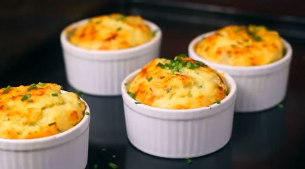Как приготовить картофельное суфле в духовке с грибами