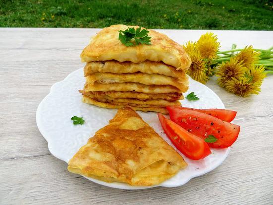 Оригинальный рецепт блинчиков с начинкой из куриного фарша