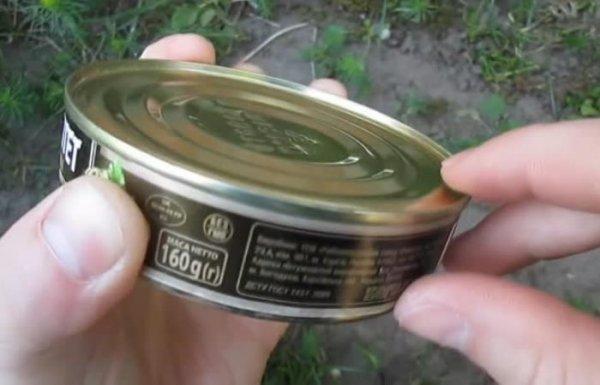 Как  быстро открыть банку с консервами, если нет ничего под руками