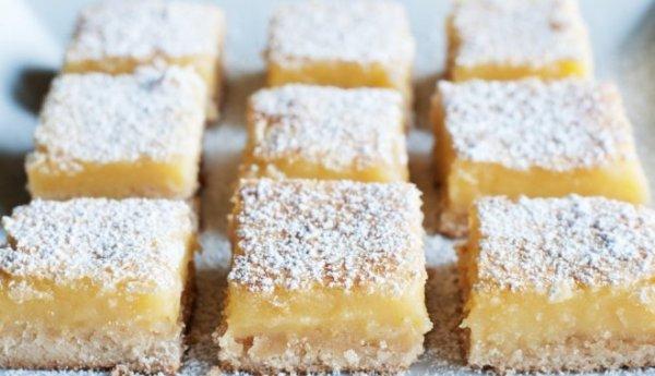 Пирожные с лимонным кремом на десерт