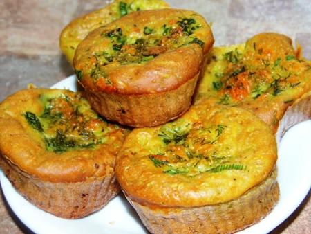 Овощные кексы с начинкой - вкусный и полезный вариант перекусав школе, на работе или дома