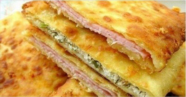 Самые вкусные сырные лепешки на кефире за 15 минут
