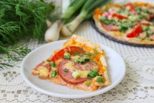 4 варианта приготовления пиццы из лаваша в духовке - быстро и вкусно