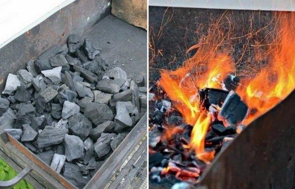 Как быстро, без специальной жидкости, при помощи подручных средств разжечь уголь в мангале