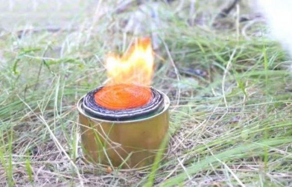 Простая и безотказная горелка своими руками, на которой можно приготовить еду в осеннем походе