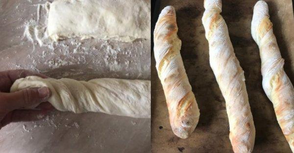 Как из четырех ингредиентов приготовить настоящий французский багет