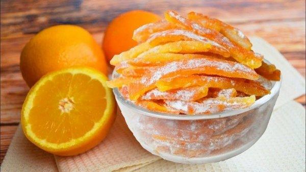 Как приготовить натуральные и полезные цукаты из апельсиновых корок
