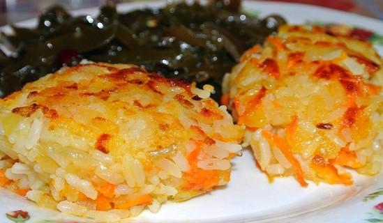Рисовые котлеты с луком и морковью — вкусное блюдо, которое готовят во время поста