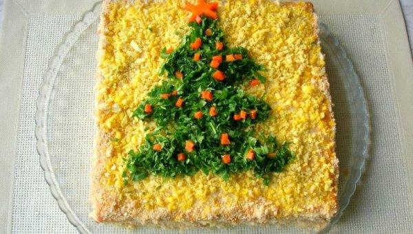 Как просто приготовить закусочный торт на новогодний стол