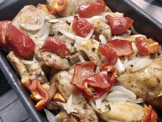 Необычное, вкусное блюдо: Курица на хлебе в духовке
