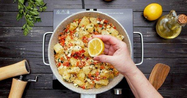 Как приготовить теплый салат по-гречески