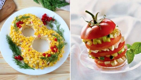 Вкуснейшие весенние весенние салаты на 8 марта, которыми не стыдно угостить гостей и коллег