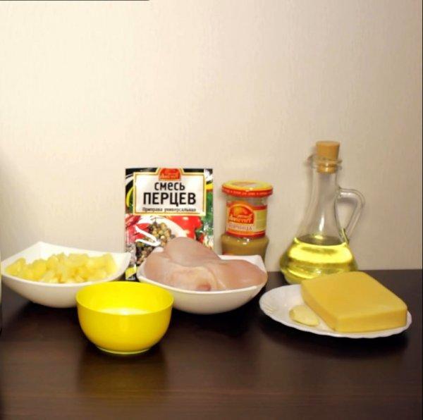 Курица с ананасами в духовке. (6 рецептов)