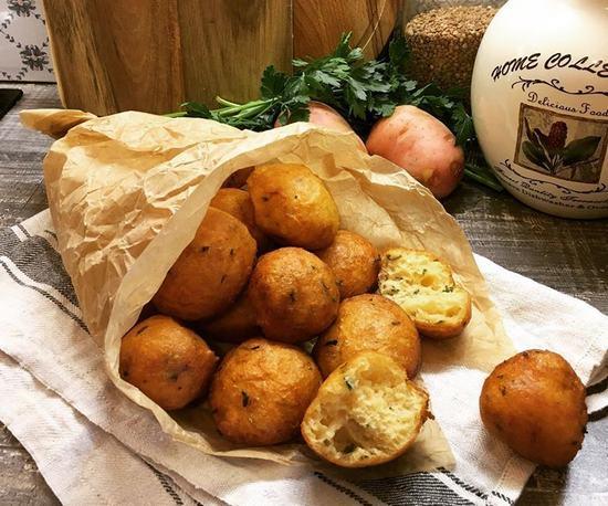 Пышные картофельные пончики