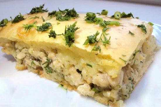 Как приготовить безумно вкусный, сытный заливной пирог с курицей и сыром. ( Фоторецепт)